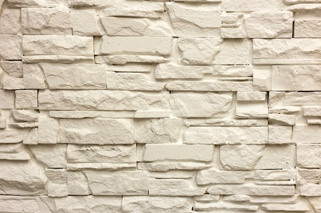 Solid limestone wall or stone fence