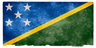 Soloman islands grunge flag