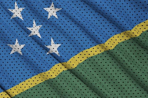 Флаг соломоновых островов, напечатанный на сетке из полиэстера с нейлоновой спортивной сеткой