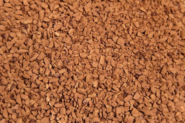 可溶性コーヒー粒の質感