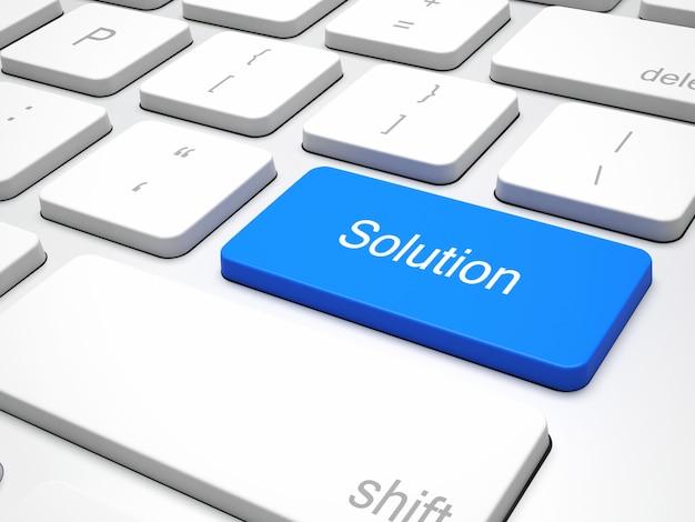 Solution blue button