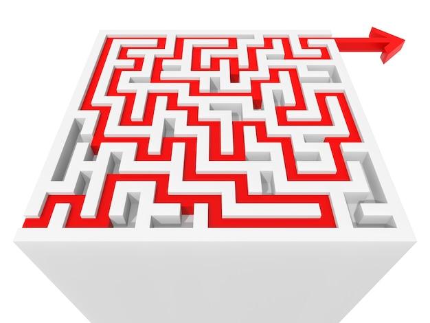 Решенный лабиринт. компьютерная графика для бизнес-концепции
