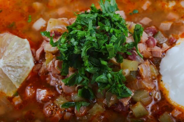 Solyanka mix soup