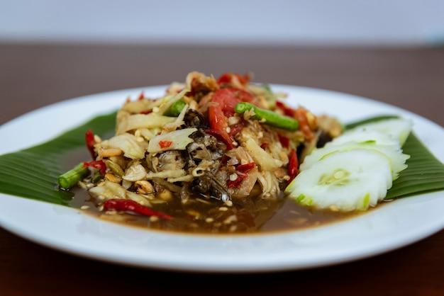 Som tum thai spicy, thai green papaya salad