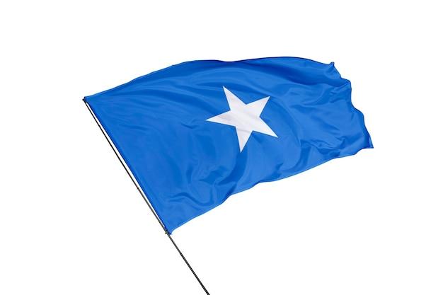 Флаг сомали на белом фоне
