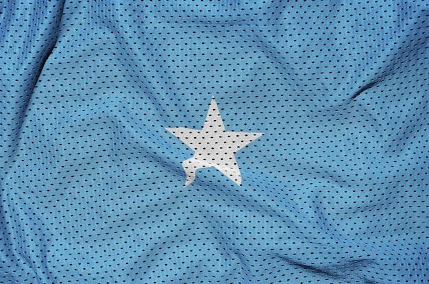 Somalia flag printed on a polyester nylon mesh