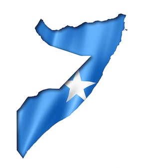 Somalian flag map