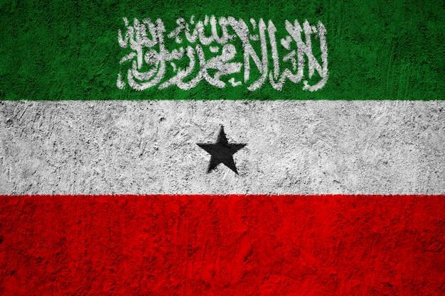 Somaliland flag painted on grunge wall