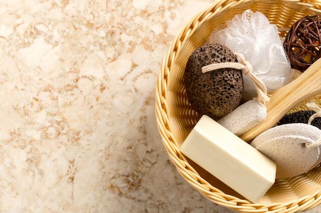 Some bath accessories