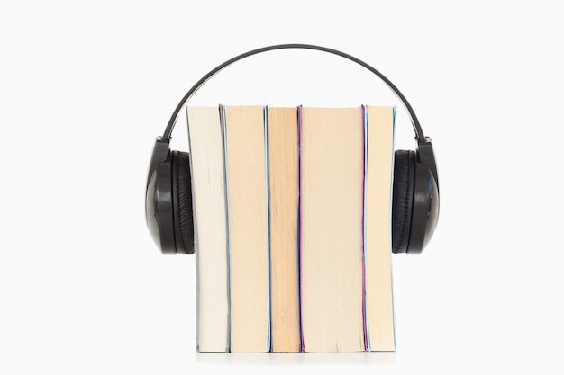 Some books and headphones