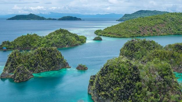 インドネシア、西パプア、ラジャアンパットのパイネモにあるロックアイランド。