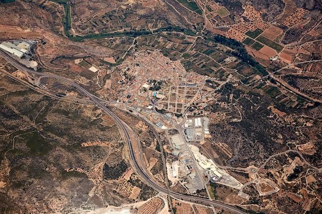 Soneja villaje aerial in castellon province spain