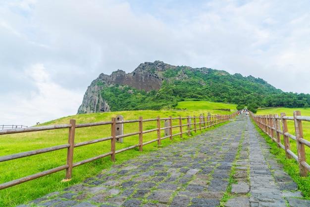 The songaksan mountain on jeju island.