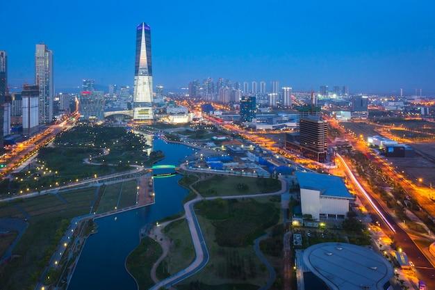 Songdo central park in songdo district, incheon south korea.