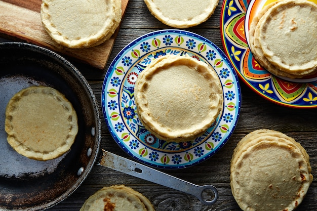 Sopes handmade mexican traditional food
