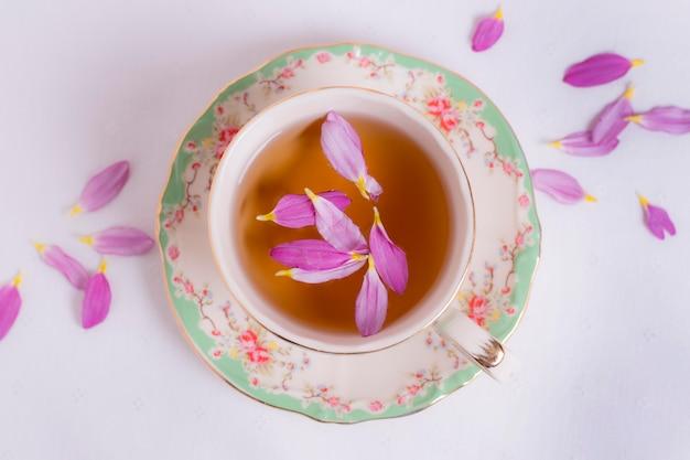Sophisticated arrangement of tea party elements