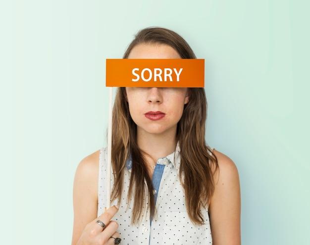 Scusa, perdona i sentimenti della persona di scuse