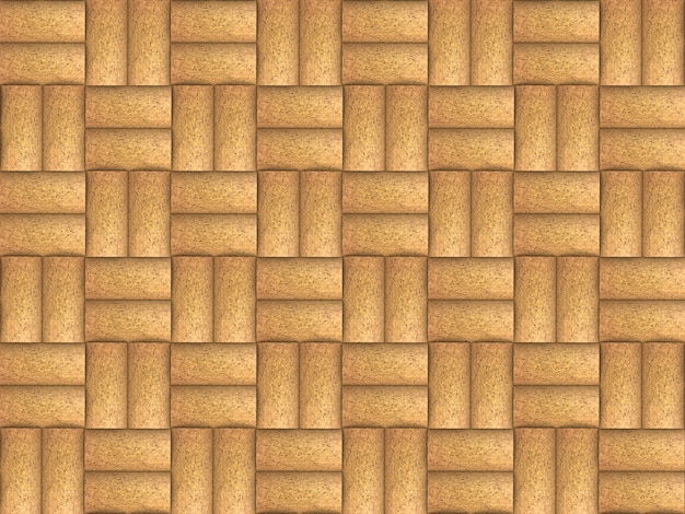 Sorted brown wine corks pattern wall background.