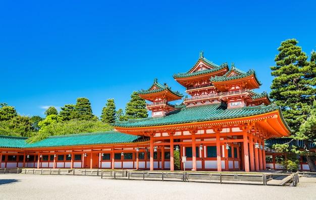 Soryuro, castle in the corner at heian shrine in kyoto - japan