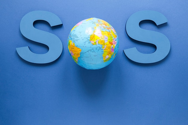 地球とsosのトップビュー
