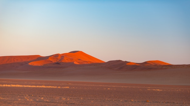 Sossusvlei namibia, travel destination in africa. sand dunes.