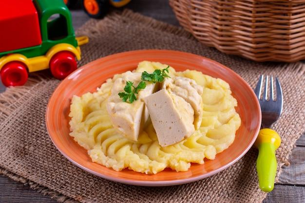 Суфле из рыбы. ужин или обед для детей. еда для детей