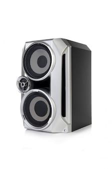 白い背景で隔離のサウンドオーディオスピーカー Premium写真