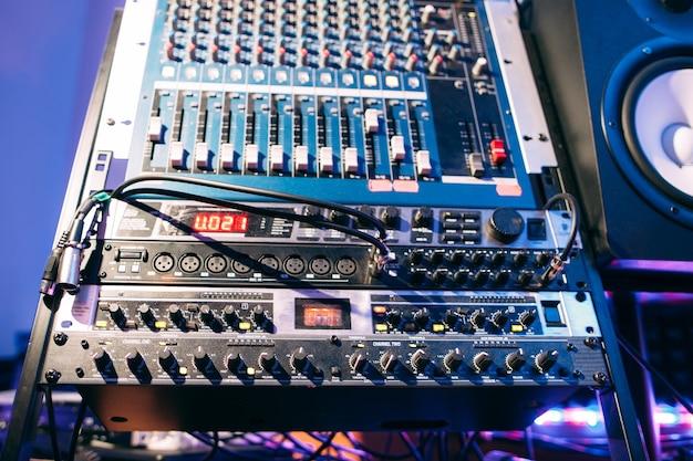 Sound controller in recording studio