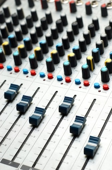 Sound mixer. selective focus