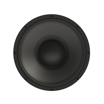 Sound speaker isolated on a white background.