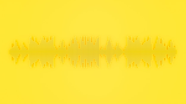 Sound wave yellow color.