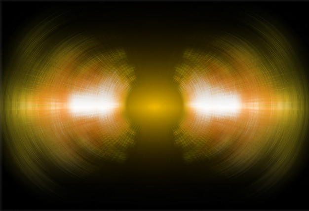 Sound waves oscillating dark yellow light