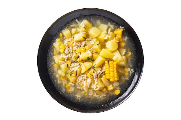 スープ野菜コーンポテトパスタアルファベットブロスチキンミートフレッシュポーションミールスナック