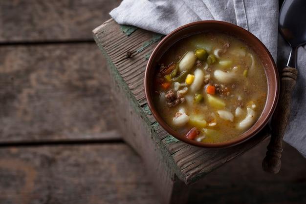 野菜とひき肉のスープ
