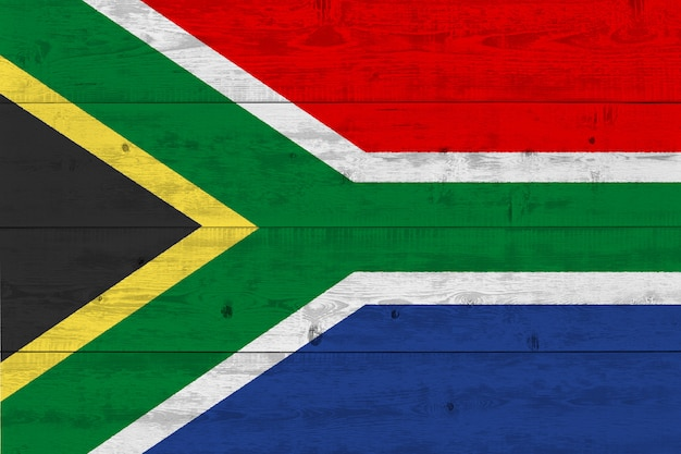 Флаг южной африки нарисовал на старой деревянной доске