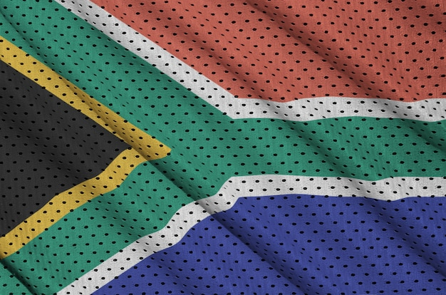 South africa flag printed on a polyester nylon mesh