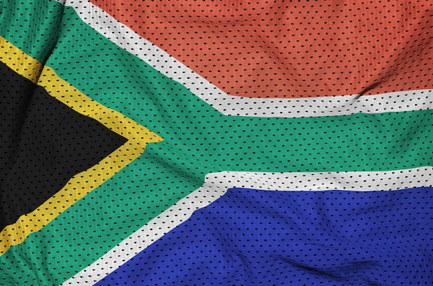 South africa flag printed on a polyester nylon sportswear