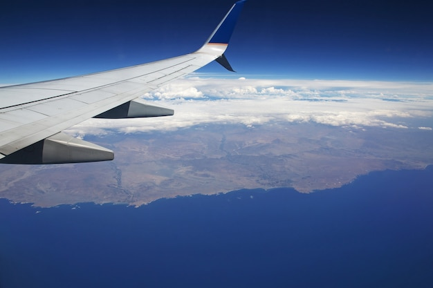 South america, the view from airplane