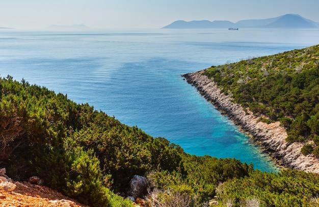 レフカダ島の南岬(レフカダ島、ギリシャ、イオニア海)