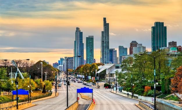 미국 일리노이 주 시카고의 사우스 콜럼버스 드라이브