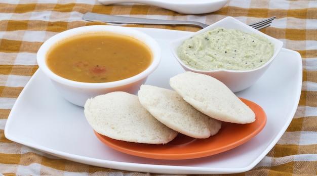 South indian food idli vada
