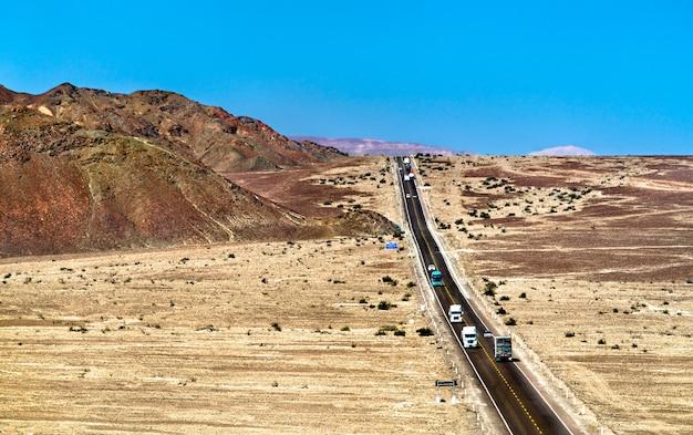 페루 나스카의 남아메리카 고속도로