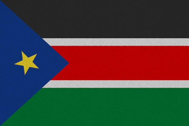 South sudan fabric flag