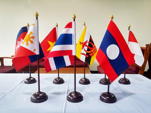 Southeast asia flags