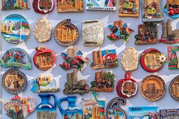 Сувенирные магнитные значки, город баку, азербайджан