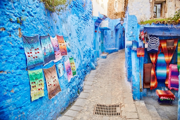 Souvenirs and gifts in the streets of chefchaouen