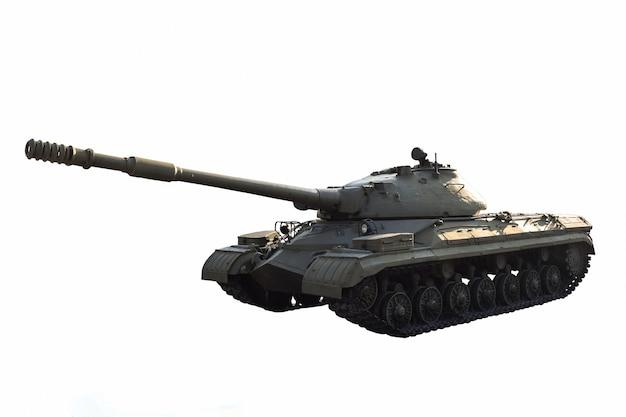 Советский тяжелый танк без опознавательных знаков на белом фоне