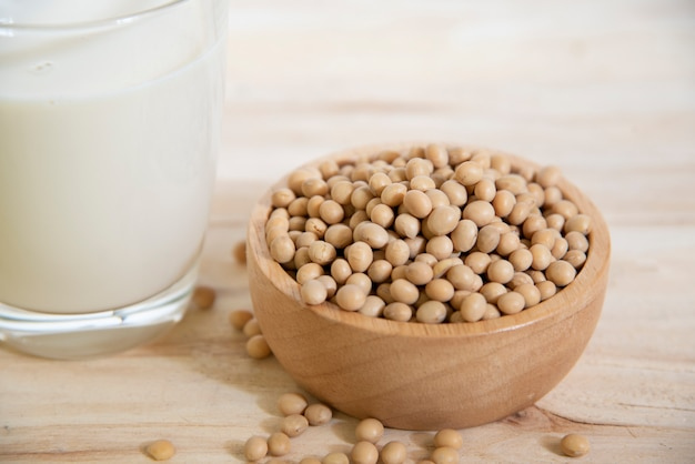 Soy milk, soybeans