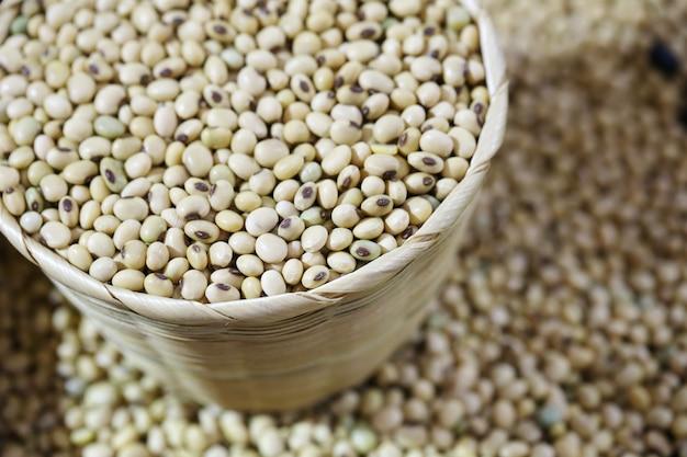 Soybean in basket