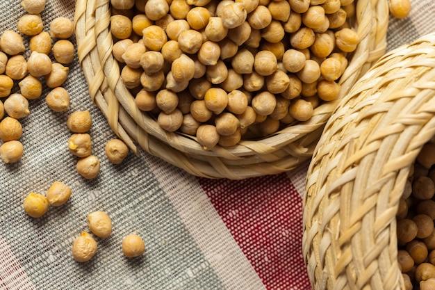 Soybean in wood bowl